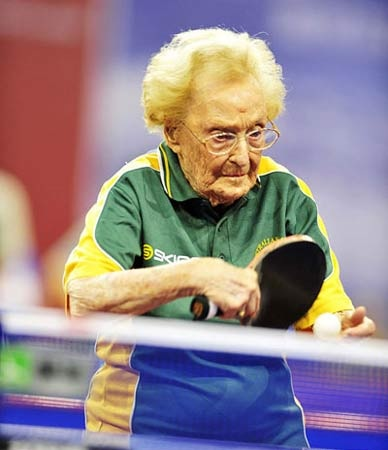 Matilda Baker at this year's Florida Hospital Ping Pong Tournament