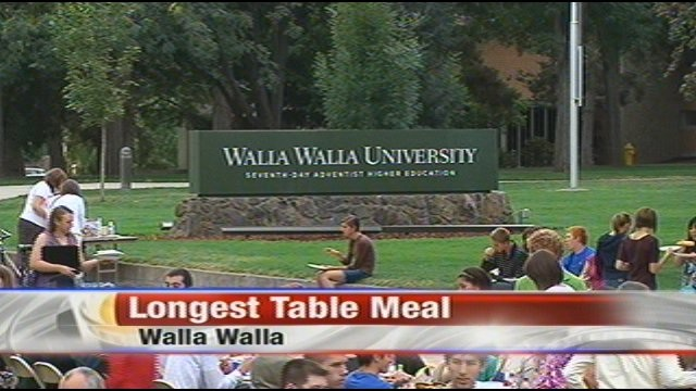 Critical to the success of the hunger strike was making sure that it was scheduled after the Longest Table feeding frenzy...