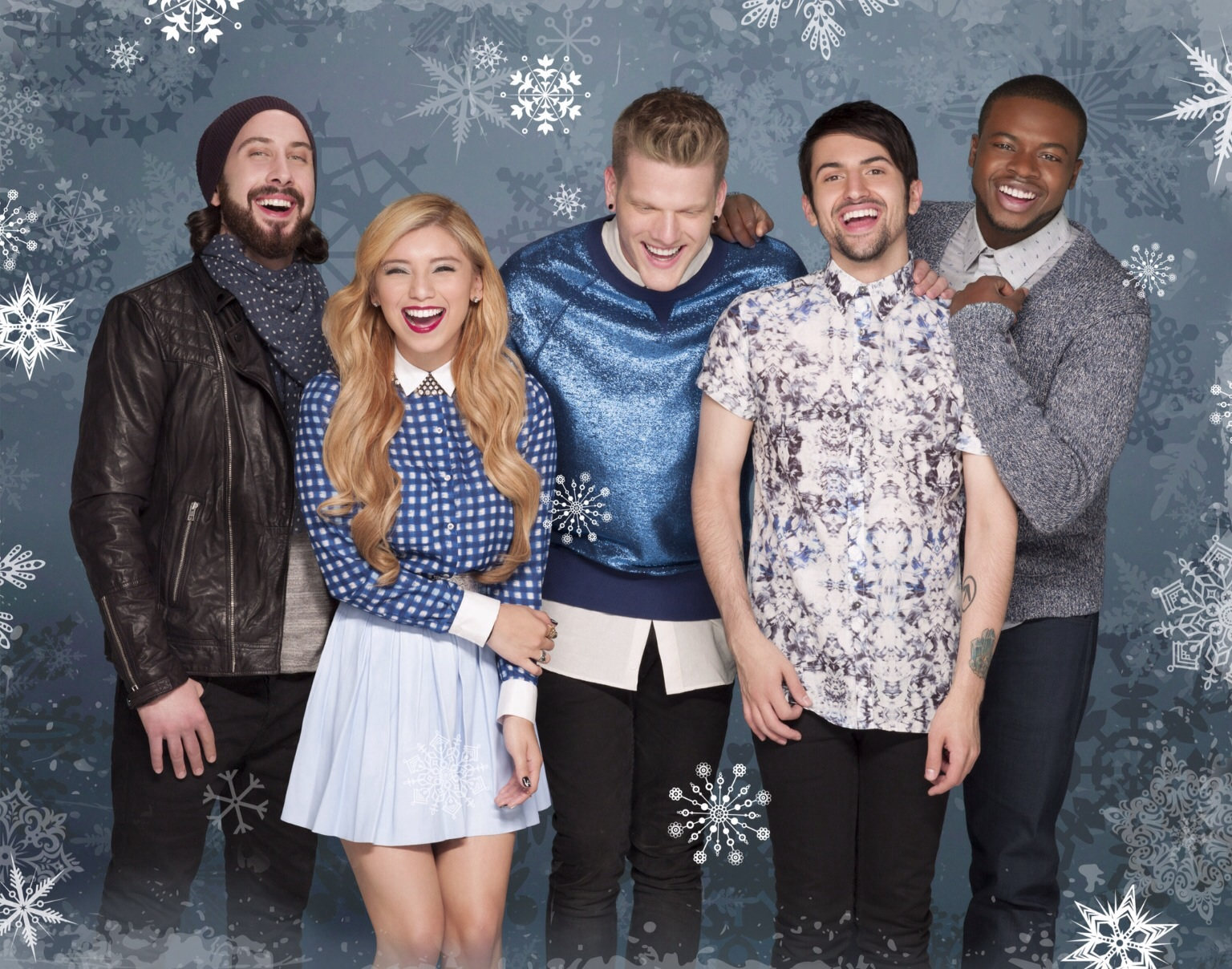 "Pentatonix released holiday album ""That's Christmas to me"" in late 2014 .  The album was certified platinum by Christmas Eve."