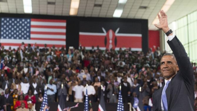 Obama in Nairobi's Safaricom Indoor Arena