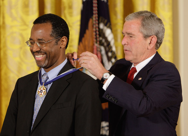 Ben Carson receives the Presidential Medal of Freedom