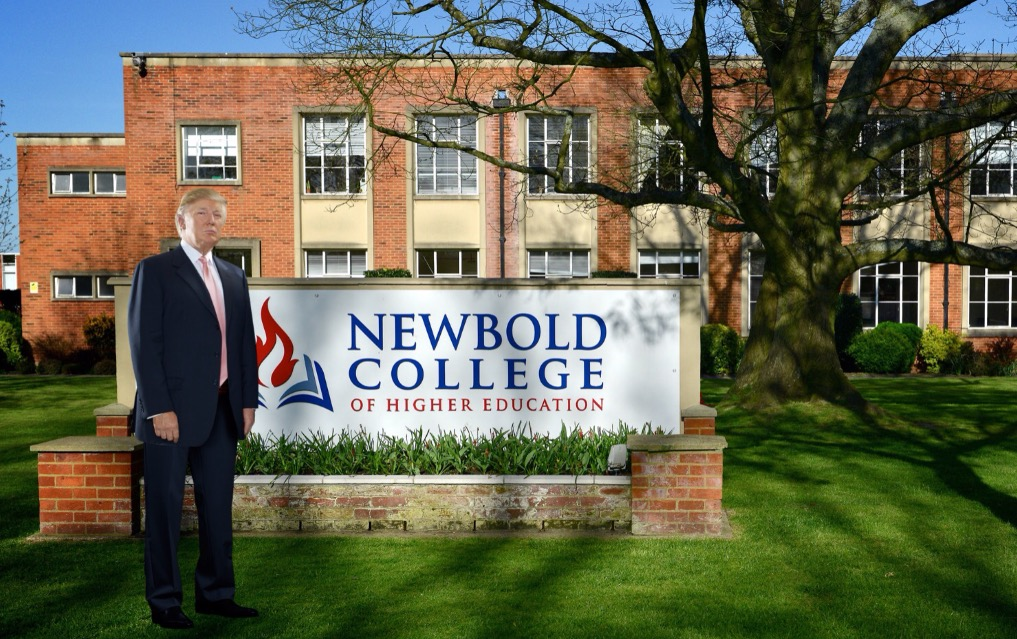 Trump's quick Newbold visit before landing in Scotland...