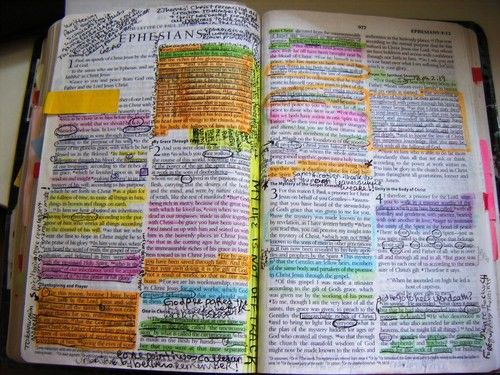 The Bible with a A LOT of highlighting