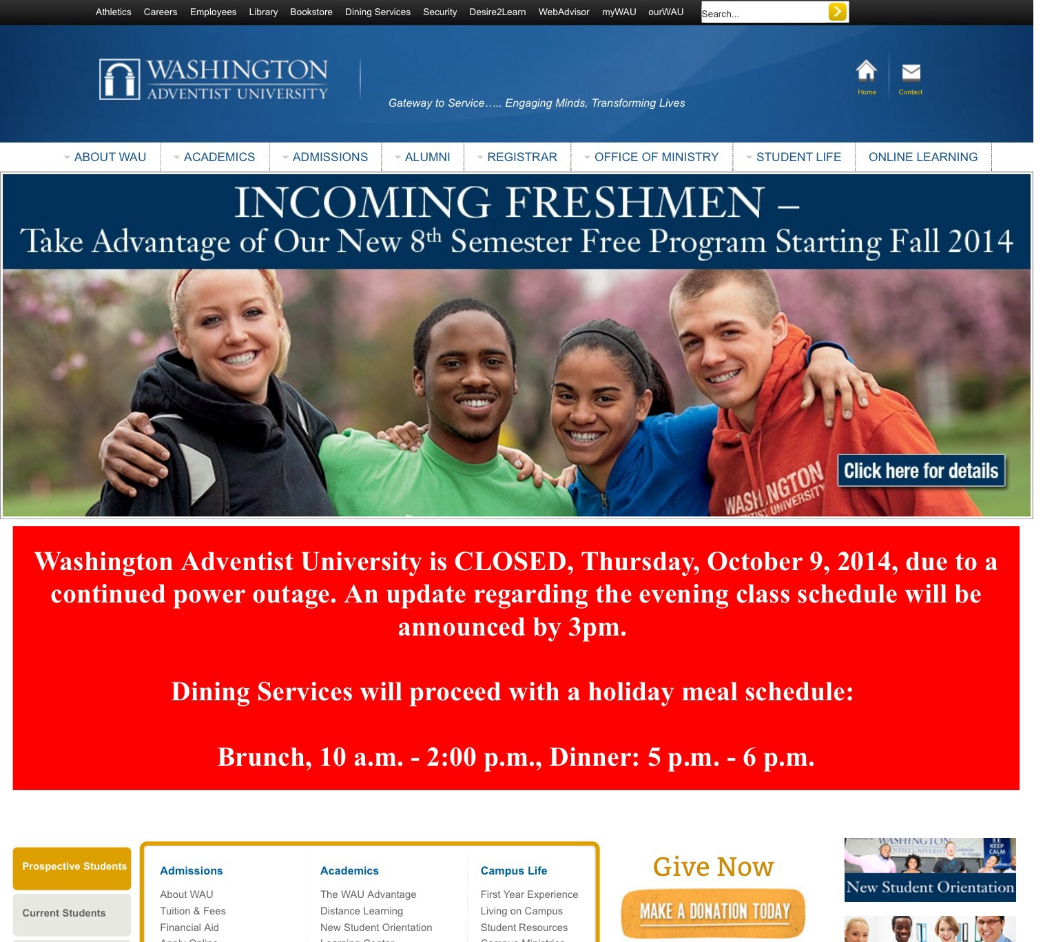 Washington Adventist University schedules power outage to save money