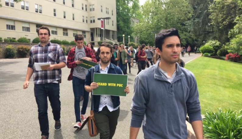 Students protest as PUC fires faculty, hires robots