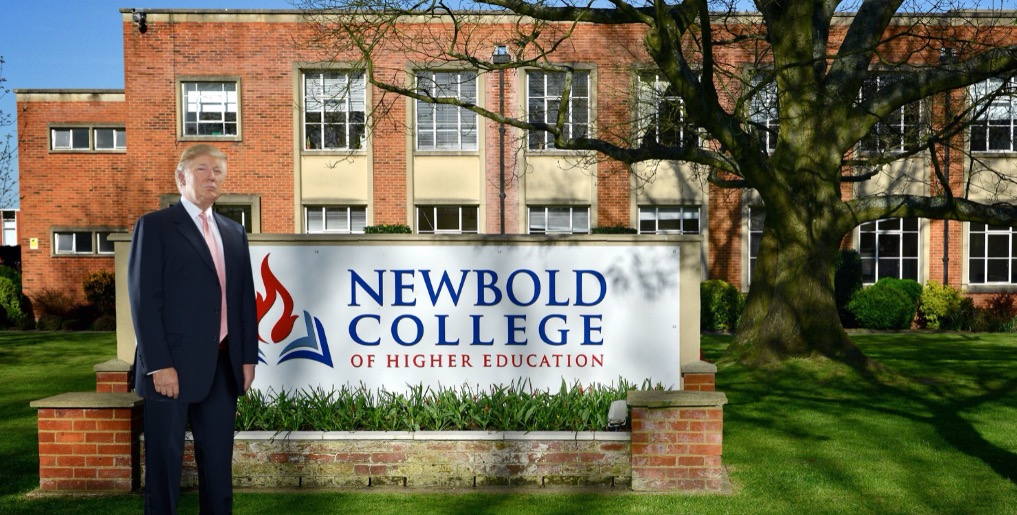"Trump cheers ""terrific"" Brexit, wants to invest in Newbold College"