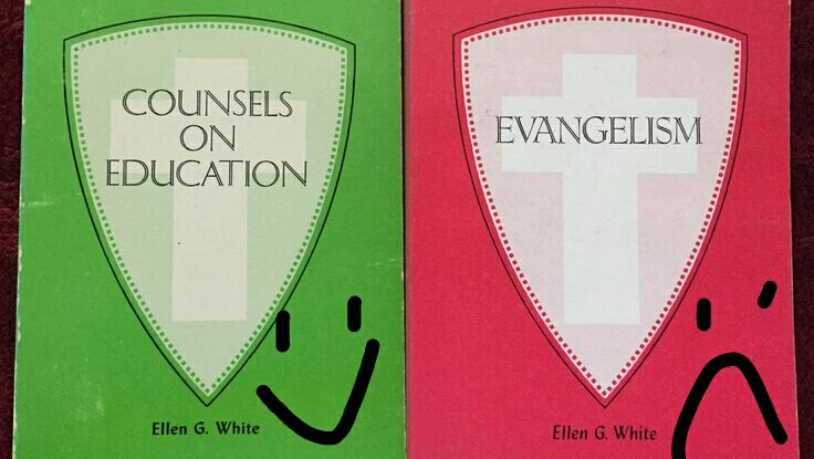 Official Ellen White book color switched from red to green on St. Patrick's Day