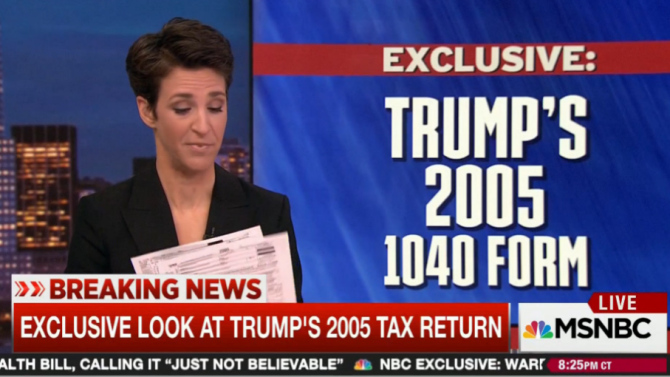MSNBC follows Trump tax returns with release of Adventist tithing records
