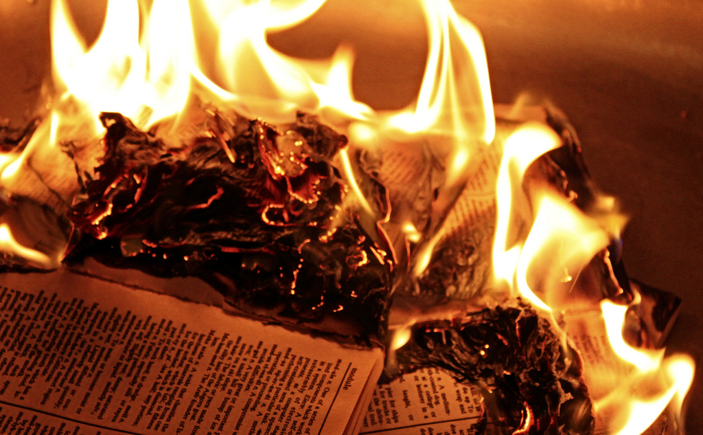 Books with Words Banned in Michigan Conference; Book Burning Vespers Scheduled