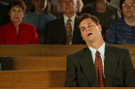 Slide Show: 11 ways to sleep in church